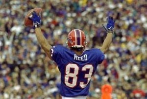 "Andre Reed finally received the ""call from the hall"" in his eighth year as a finalist."