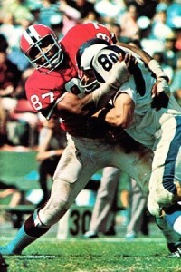 Claude Humphrey was a dominating defender for the Atlanta Falcons.