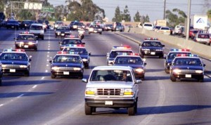 The O.J. Simpson White Bronco chase on June 17, 1994 captivated a nation though it didn't break any speed records.