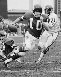 Fran Tarkenton was seen as unorthodox when he entered the NFL in 1961 as a scrambling quarterback.