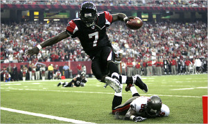 Michael Vick was better as a runner than a passer during his years in Atlanta.