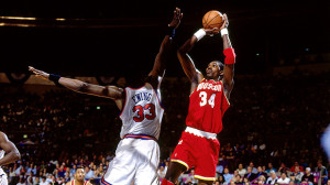 While most of America was focused on a white Bronco, Patrick Ewing and Hakeem Olajuwon were focused on winning an NBA title.