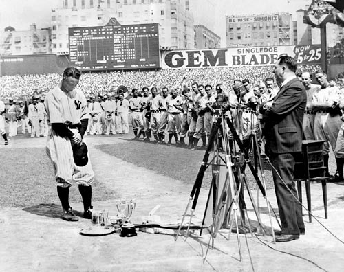 Lou Gehrig said goodbye to his fans on July 4, 1939.