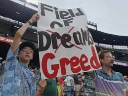 The 1994 baseball strike brought out the worst in sports greed.