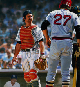 Munson and Carlton Fisk were rivals throughout the 1970s.