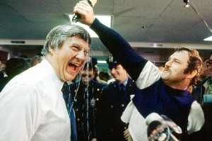 Munson and George Steinbrenner celebrated back-to-back World Series titles in 1977 and 1978.