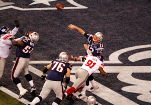 Tom Brady's safety to open the scoring in Super Bowl XLVI proved to be worth $50,000 to one sports gambler.
