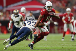 Larry Fitzgerald and the Arizona Cardinals are the favorites to reach the Super Bowl, but with six games left anything can happen.