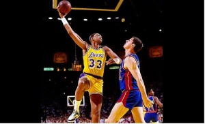 Kareem Abdul-Jabaar's famous sky hook was nearly impossible to stop.