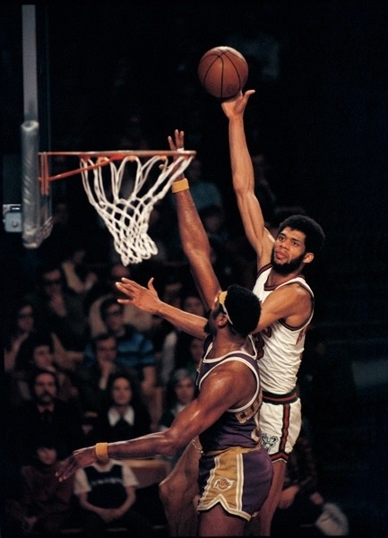 Even Wilt Chamberlain could not stop Kareem.