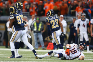 After getting knocked down by the St. Louis Rams, Peyton Manning and the Denver Broncos will look to bounce back to Super Bowl form.