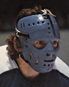 Greg Harrison mask worn by Jim Rutherford.