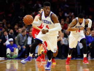 After missing the entire 2013-2014 season, former Kentucky Wildcat star Nerlens Noel is getting a feel for the NBA.