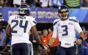 Russell Wilson and Marshawn Lynch are hoping or a repeat f Super Bowl XLVIII when they were the dominant team.