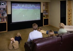 There is nothing better than a family enjoying the big game together in comfort.