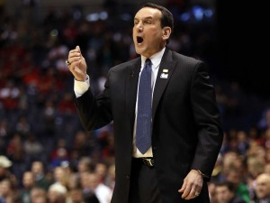 Mike Krzyzewski is coaching in his ninth NCAA Championship game, all with Duke.