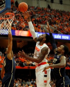 Syracuse graduate student Rakeem Christmas emerged in 2015 as proof that you can develop your game by staying in college for four years.