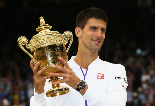 Novak Djokovic lifted the championship trophy for the third time at the 2015 Wimbledon.
