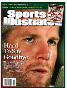 Favre's teary retirement in 2008 would be the first of many.