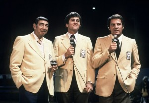 Howard Cosell, on Mereidth and Frank Gifford became a Monday Night staple in the 1970s.
