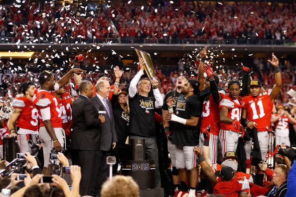 Ohio State has been anointed as the favorite to again raise the College Football National Championship trophy.