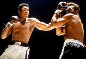 The legendary Muhammad Ali considered Sugar Ray Robinson among his early idols.