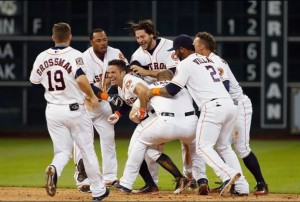 The surprising Houston Astros have been doing a lot of celebrating so far in 2015.