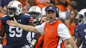 Gus Malzahn and the Auburn Tigers barely escaped an upset bid by Jacksonville State.
