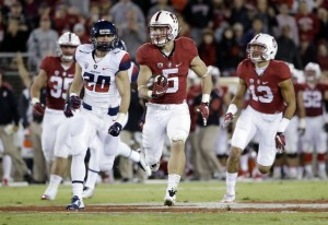 Christian McCaffrey and the Stanford Cardinal will look to run Notre Dame out of the college football playoff mix.