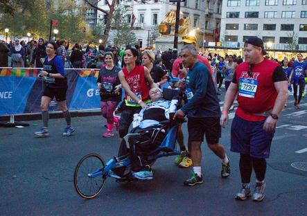 The adventure of Kyle and Brent Pease during the New York City Marathon was anything but typical.