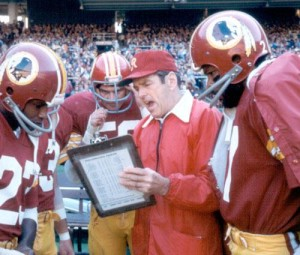 Redskins' coach George Allen brought new prominence to the rivalry in the 1970's.