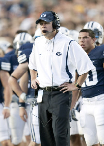 Bronco Mendenhall will be on the BYU sidelines for the final time during their bowl game against Utah.