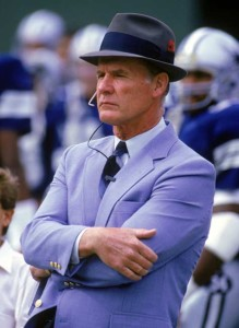 Tom Landry strolled the Dallas sideline as head coach for 29 years.