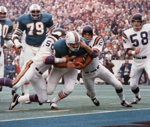 Larry Csonka's 33 attempts, 145 yards and 2 TDs are a major reason that the Dolphins had to attempt only seven passes in Super Bowl VIII.