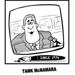 "Cartoon Sportscaster Tank McNamara and the ""Norts Spews"""