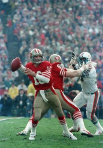 "Joe Montana was supposed to be the ""other quarterback"" in Super BOwl XIX, but instead led the 49ers to a dominant victory over the Miami Dolphins."