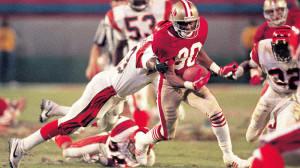While Joe Montana led the 49ers to the game winning drive in Super Bowl XXIII, Jerry Rice was named the MVP.