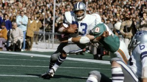 "With 95 rushing yards in Super Bowl VI, Duane Thomas helped the Dallas Cowboys shed their image as ""next year's champions."""