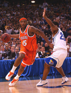 Freshman sensation Carmelo Anthony lead Syracuse to the national title in 2003.