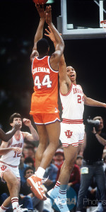 Orange legend Derrick Coleman grabbed 19 rebounds against the Hoosiers in the 1987 NCAA Championship Game.