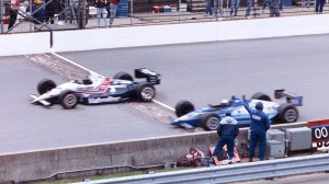 Al Unser Jr., held off Scott Goodyear by .0043 to win his first Indy 500.