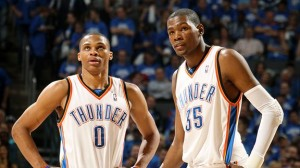 Russell Westbrook and Kevin Durant have the Oklahoma City Thunder poised to return to the NBA Finals for the first time since 2012.