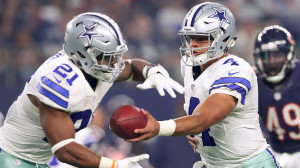 Combined with prized rookie running back Ezekiel Elliott, Prescott is playing at a high level.