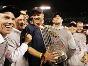 Terry Francona and Theo Epstein celebrated two World Series titles together in Boston. Only one will get to celebrate in 2016.