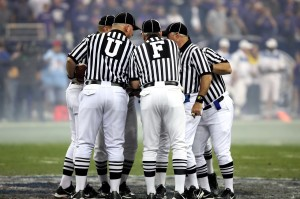 Even officials making awful calls won't spoil a great football party.