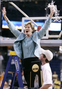 Pat Summitt won 1,093 games and eight NCAA Championships at Tennessee.