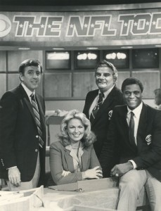 "The NFL Today team of Musburger, Phyllis George, Jimmy ""The Greek"" Snyder and Irv Cross was groundbreaking for the 1970s."
