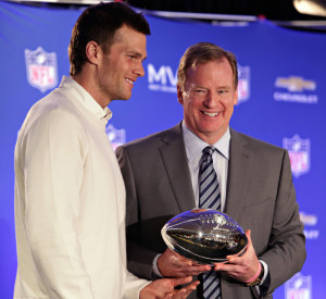 Will Roger Goodell have to give the Super Bowl LI trophy to Tom Brady?