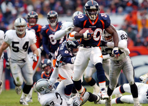 Terrell Davis averaged more than 1,600 yards rushing per season during his four prime NFL campaigns.