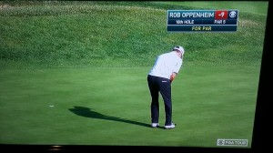 Journeyman golfer Rob Oppenheim made a crucial putt at the 72nd hole of the Pebble Beach Pro-Am to earn the highest finish of his PGA career.